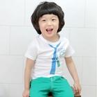 เสื้อยืดลายไทด์สีฟ้า-(5size/pack)