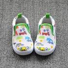 รองเท้าเด็กลายรถหลากสี-สีขาว-(8-คู่/แพ็ค)