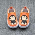 รองเท้าเด็กลายลิงยิ้ม-สีส้ม-(8-คู่/แพ็ค)