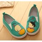 รองเท้าเด็กเด็กน้อยน่ารัก-สีเขียว-(5-คู่/แพ็ค)