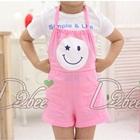 จั๊มสูทเด็กพระจันทร์ยิ้มแฉ่งสีชมพู-(5size/pack)