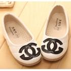 รองเท้าเด็กหญิง-Chanel-สีขาว-(5-คู่/แพ็ค)