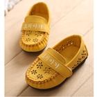 รองเท้าเด็กหญิงดอกไม้ฉลุ-สีเหลือง-(5-คู่/แพ็ค)