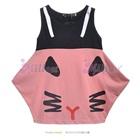 เดรสห้าเหลี่ยมแมวเหมียว-สีชมพู--(5size/pack)