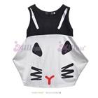 เดรสห้าเหลี่ยมแมวเหมียว-สีขาว--(5size/pack)