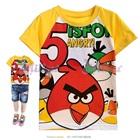 เสื้อยืดแขนสั้น-Angry-Bird-แขนสีเหลือง(6size/pack)