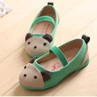 รองเท้าเด็ก-หมีน้อย-สีเขียว-(5-คู่/แพ็ค)