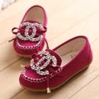 รองเท้าเด็กหญิง-Chanel-สีบานเย็น-(5-คู่/แพ็ค)