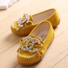 รองเท้าเด็กหญิง-Chanel-สีเหลือง-(5-คู่/แพ็ค)
