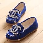 รองเท้าเด็กหญิง-Chanel-สีน้ำเงิน-(5-คู่/แพ็ค)