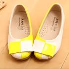 รองเท้าเด็กหญิงสองสี-สีขาวเหลือง-(5-คู่/แพ็ค)