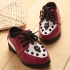 รองเท้าเด็กหัวกะโหลก-สีแดง-(21-25)(5-คู่/แพ็ค)