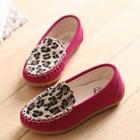 รองเท้าเด็กหญิงเสือดาว-สีบานเย็น-(5-คู่/แพ็ค)