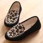รองเท้าเด็กหญิงเสือดาว-สีดำ-(5-คู่/แพ็ค)