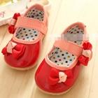 รองเท้าเด็กหญิงโบว์เก๋ๆ-สีแดง-(5-คู่/แพ็ค)