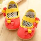 รองเท้าเด็กหญิงโบว์เก๋ๆ-สีส้ม(5-คู่/แพ็ค)