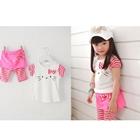 ชุดเสื้อและกางเกงแมวเหมียว-สีชมพู--(5-ตัว/pack)