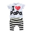 ชุดเสื้อและกางเกง-I-Love-PAPA-สีขาว-(5-ตัว/pack)