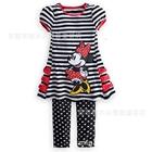ชุดเสื้อและกางเกง-Minnie-Mouse-สีดำขาว(5-ตัว/pack)