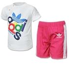 ชุดเสื้อและกางเกง-Adidas-สีชมพู-(5-ตัว/pack)