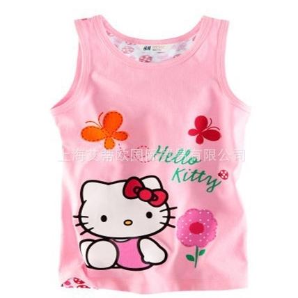 เสื้อกล้ามเด็ก Hello Kitty สีชมพู (5 ตัว/pack)