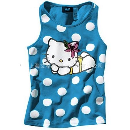 เสื้อกล้ามเด็ก Hello Kitty สีฟ้า(5 ตัว/pack)