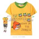 เสื้อยืดแขนสั้น-Angry-Bird-สีเหลือง-(5size/pack)