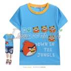 เสื้อยืดแขนสั้น-Angry-Bird-สีฟ้า-(5size/pack)