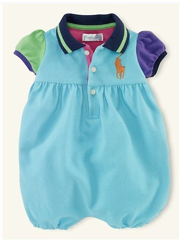 บอดี้สูทเด็ก POLO แบบ A สีฟ้า (3 size/pack)