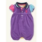 บอดี้สูทเด็ก-POLO-แบบ-E-สีม่วง-(3-size/pack)