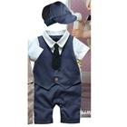 บอดี้สูทเด็กคุณชายน้อย-สีน้ำเงิน-(3-size/pack)