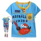 เสื้อยืดแขนสั้น-Baseball-สีฟ้า-(5size/pack)