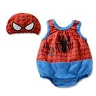 บอดี้สูทเด็ก-Spider-man-พร้อมหมวก-(3-size/pack)