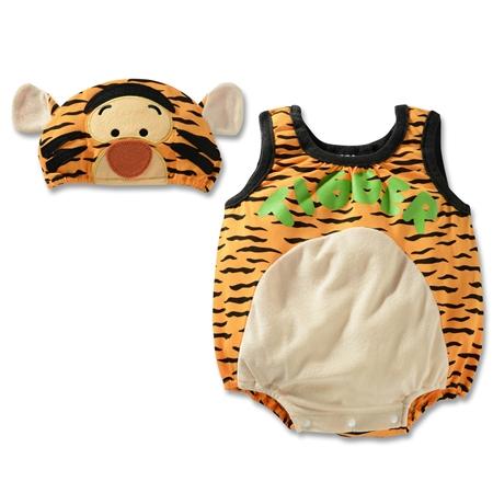 บอดี้สูทเด็ก Tiger พร้อมหมวก (3 size/pack)