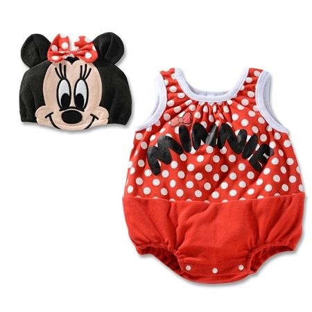 บอดี้สูทเด็ก Minnie Mouse พร้อมหมวก (3 size/pack)