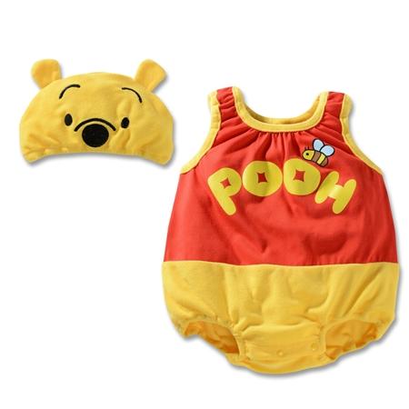 บอดี้สูทเด็กหมีพูลล์ พร้อมหมวก (3 size/pack)
