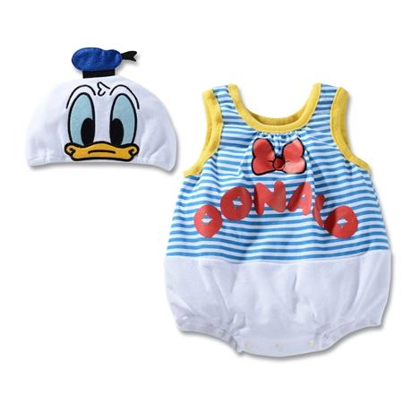 บอดี้สูทเด็ก Donald Duck พร้อมหมวก (3 size/pack)