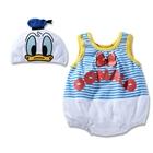 บอดี้สูทเด็ก-Donald-Duck-พร้อมหมวก-(3-size/pack)