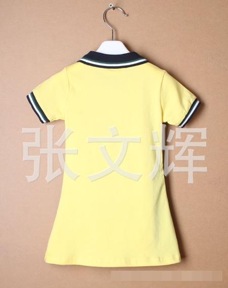 เดรสแขนสั้น La Coste สีเหลือง (5 ตัว/pack)