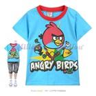 เสื้อยืดแขนสั้น-Angry-Bird-สีฟ้า-(6size/pack)