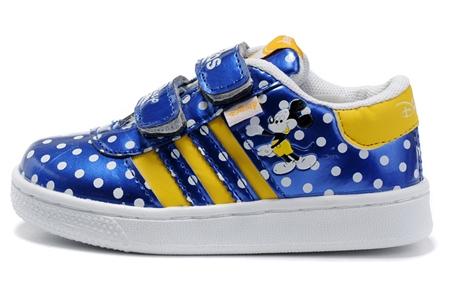 รองเท้าผ้าใบเด็ก Adidas สีน้ำเงิน (6 คู่/แพ็ค)