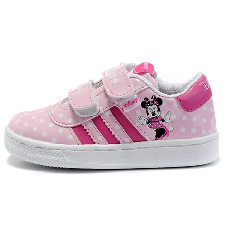 รองเท้าผ้าใบเด็ก Adidas สีชมพู (6 คู่/แพ็ค)