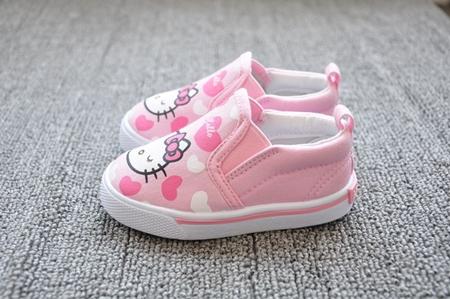 รองเท้าเด็ก Hello Kitty สีชมพู (8 คู่/แพ็ค)