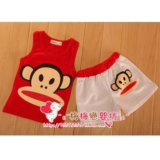 เซ็ทเสื้อกางเกง Paul Frank เสื้อแดง (4 ตัว/pack)