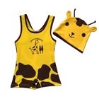 ชุดว่ายน้ำยีราฟน้อย-สีเหลืองพร้อมหมวก-(5-ตัว/pack)
