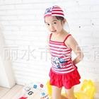 ชุดว่ายน้ำ-Micky-Mouse-สีแดงพร้อมหมวก-(3-ตัว/pack)