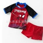 ชุดว่ายน้ำ-Spider-man-สีแดง-(4-ตัว/pack)
