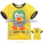 เสื้อแขนสั้น-Bird-Smil-Life-สีเหลือง-(5size/pack)
