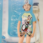 ชุดว่ายน้ำ-Micky-Mouse-สีฟ้าพร้อมหมวก-(4-ตัว/pack)
