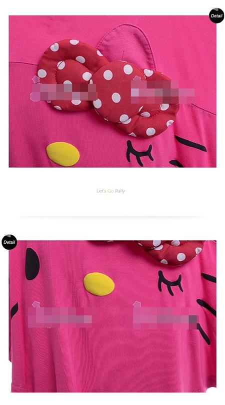 เสื้อแขนยาว คิตตี้ผีเสื้อ สีชมพู (5size/pack)